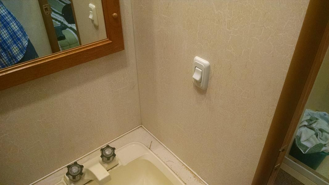 Adding Bathroom Light Wall Switch Converts Ceiling Fixture To Low Med High 2001 Coachmen